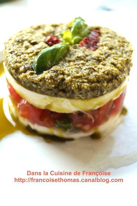 Mille Feuilles de Tomates aux couleurs de l'Italie (Concours Recette Toscane)