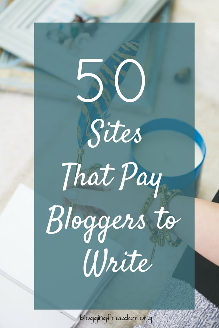 50Sites That Pay Bloggers to Write