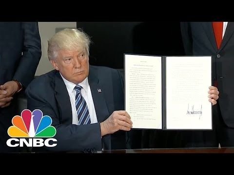 President Trump Signs Executive Order On Taxes, Financial Regulation | Closing Bell | CNBC - YouTube