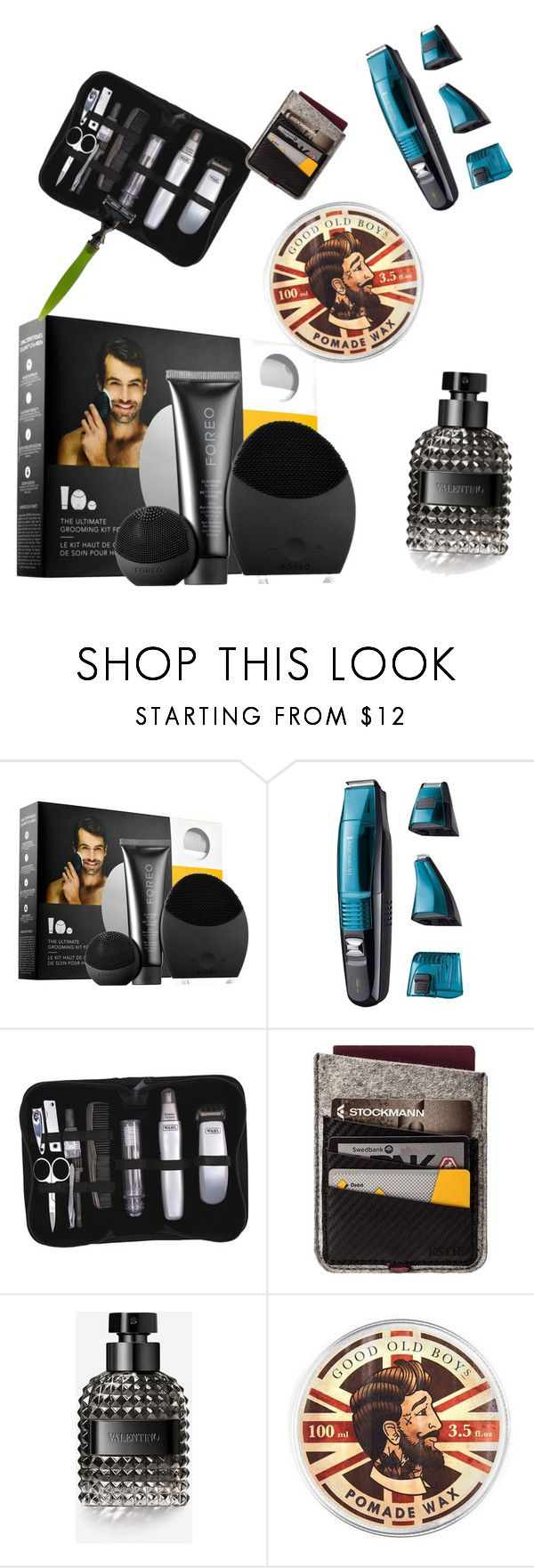 """""""Untitled #68"""" by p0livore ❤ liked on Polyvore featuring beauty, FOREO, Remington, Wahl, ESTIE Bags, Valentino, Topman and êShave"""