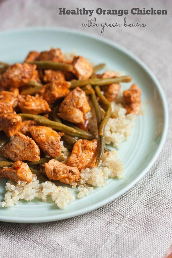 Healthy Orange Chicken with Green Beans - Eating Bird Food