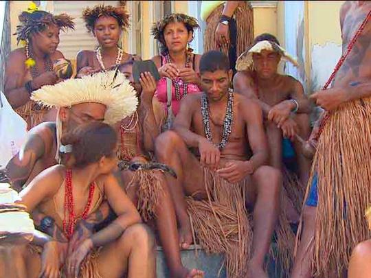 Cerca De 40 Indios Da Tribo Tupinamba Da Serra Do Padeiro -8453