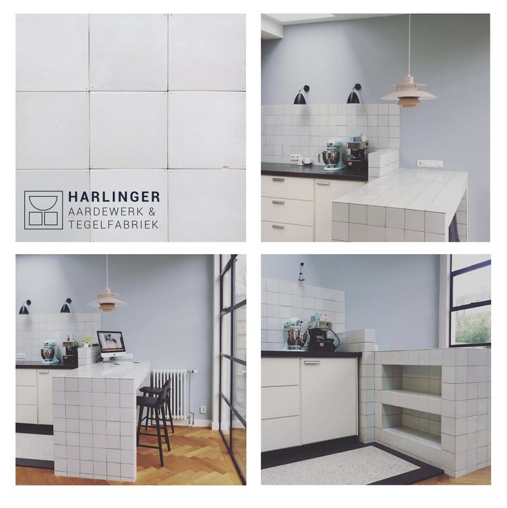 Our handmade white tiles used in a modern kitchen. #dutchtiles #tiles #interior #kitchen #handmade #handcrafted #tegels #handgemaakt #witjes #friese witjes