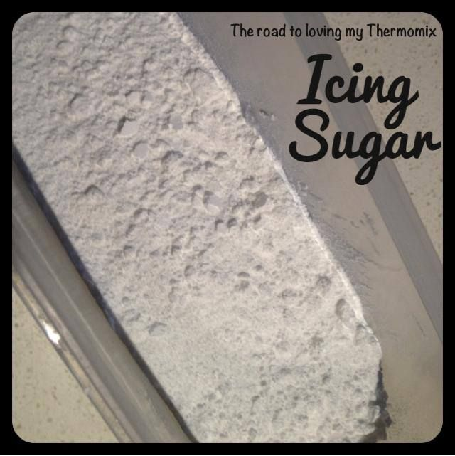 All this talk of Caramel Frosting last night reminded me to show you how easy it is to make your own icing sugar. Those who have had tmx demos will already know this but I thought I would pop it up in case it helps someone. I use two cups of