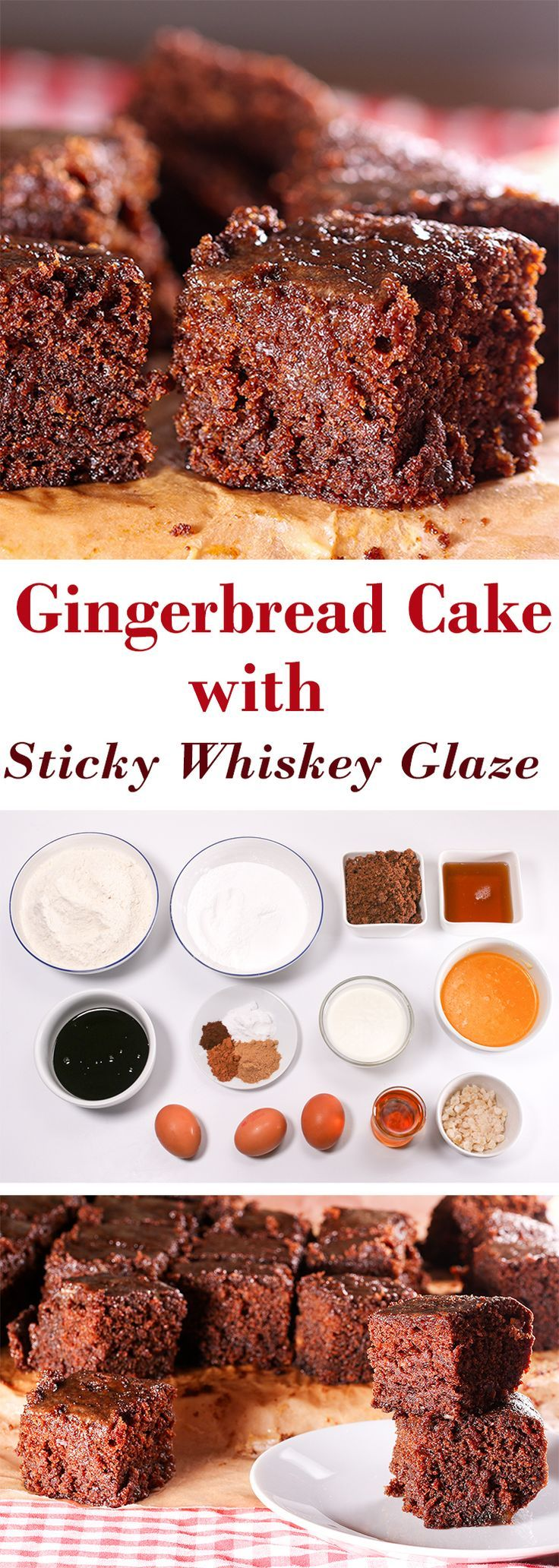 Sticky, sweet, boozy whiskey cake - so moist and delicious!