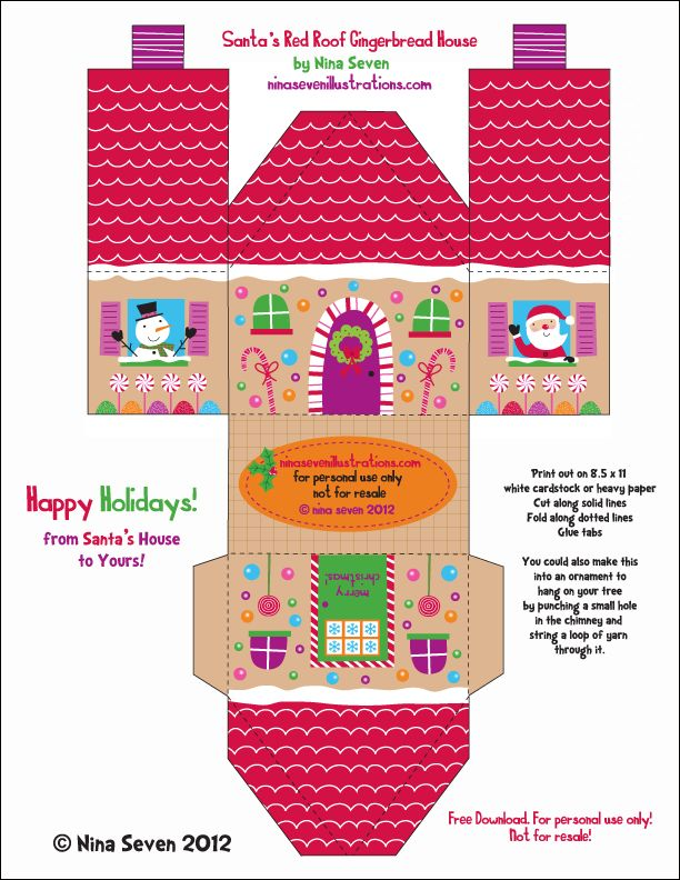 57 best Paper- Christmas Towns images on Pinterest Boxes - christmas paper template
