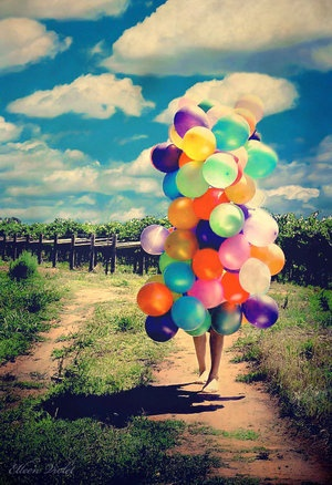 human balloon. i will one day replicate this picture with as many or if not more balloons!