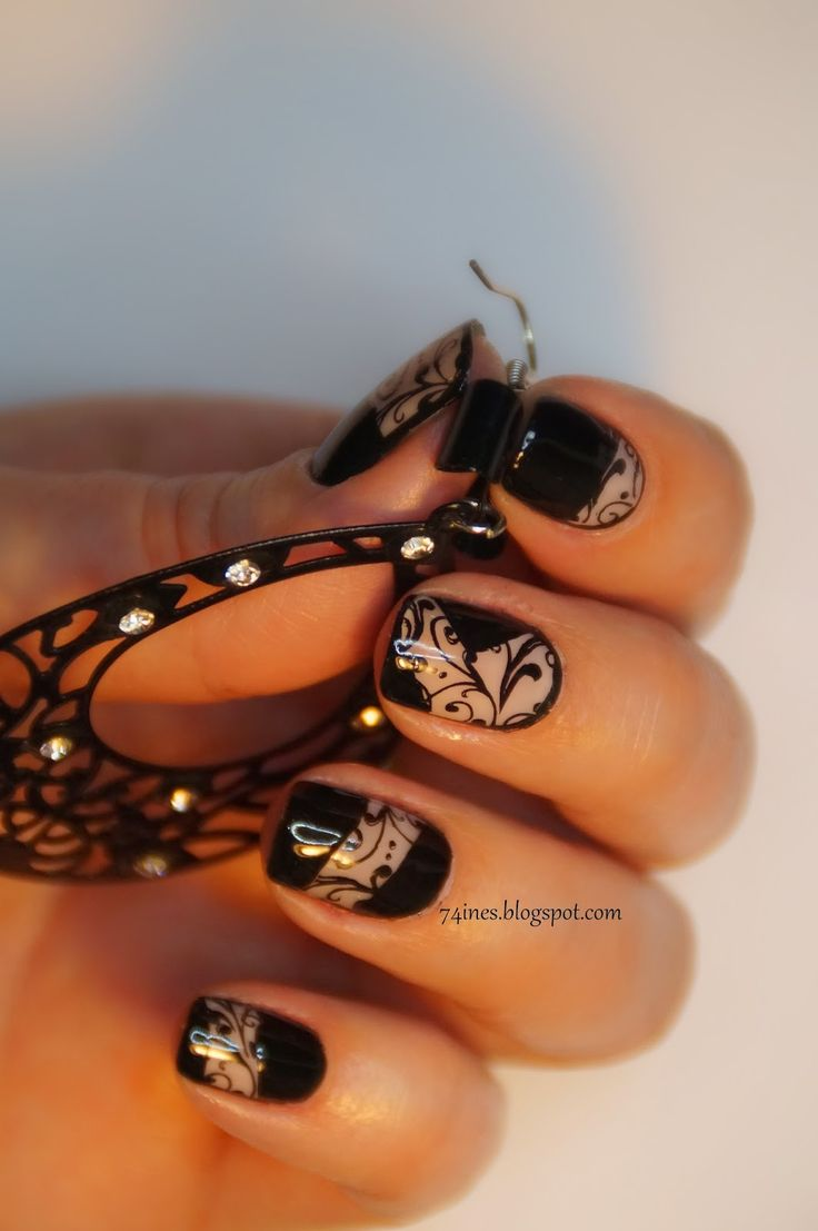 Blue glitter ombr 233 stiletto nails - Inesworld Nail Nails Nailart
