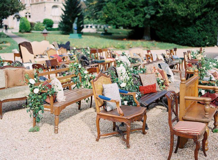 #seating, #chair    Photography: Steve Steinhardt - stevesteinhardt.com/  Event Design: Beth Helmstetter Events - bethhelmstetter.com    Read More: http://www.stylemepretty.com/2013/03/21/french-countryside-wedding-from-beth-helmstetter-events/