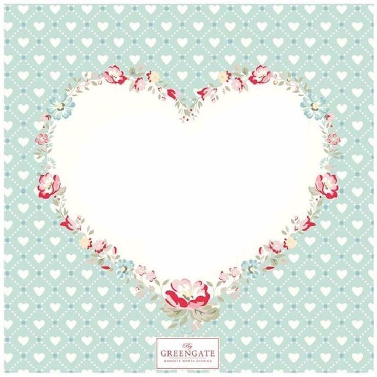 Greengate Abelone White heart