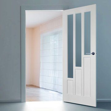 White Primed Doors With Glass - Internal Doors With Glass
