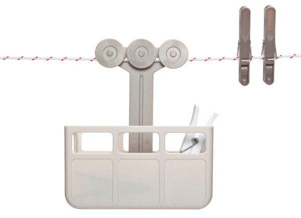これはかわいい!紐にぶら下がるロープウェイな洗濯バサミ入れ – Cabina Peg holder | STYLE4 Design
