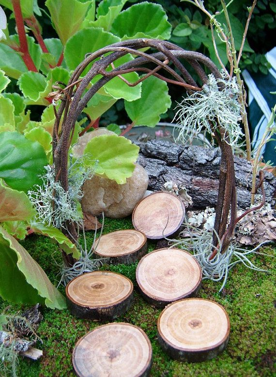 Fairy Garden Arch and Stepping Stones, Miniature Garden Arch, Woodland Wedding Mini Arch, Miniature, Fairy Garden, Woodland Wedding on Etsy, $7.00