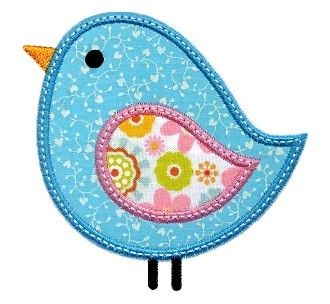 Birdie Applique - lots of sweet applique/embroidery designs here