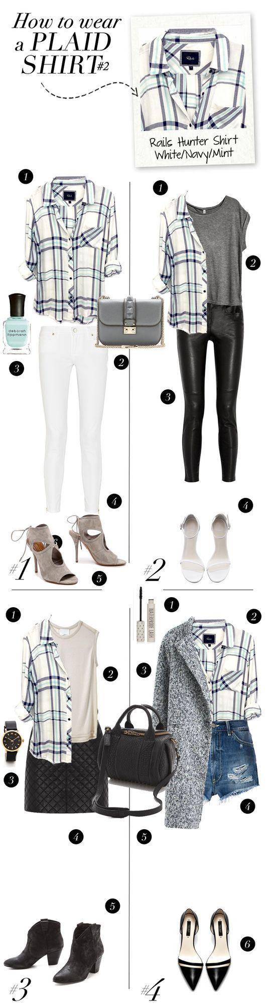 FASHION: How To Wear a plaid shirt (via Bloglovin.com )