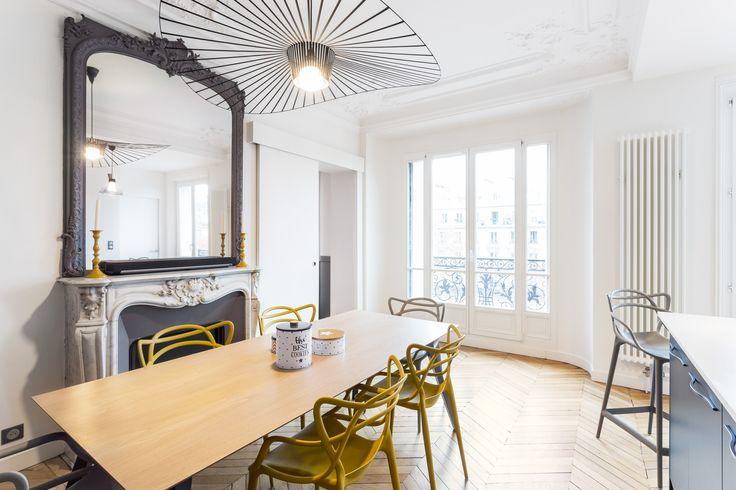 Plus de 1000 id es propos de salles a manger dining rooms sur pinterest chaises eames - Appartement moderne ancien hopital ...