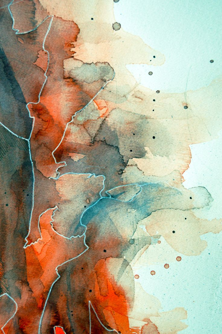 Watercolor texture in red and cyan by =jane-beata on deviantART