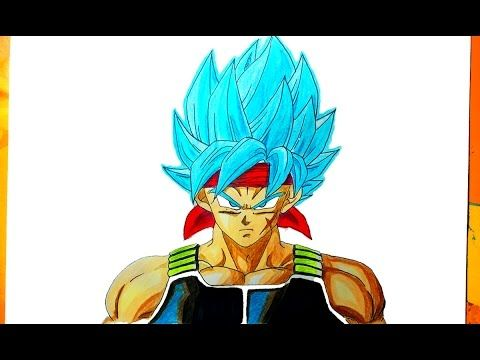 DIBUJANDO A BARDOCK SSJ DIOS AZUL - [ How to Draw father goku ] - YouTube