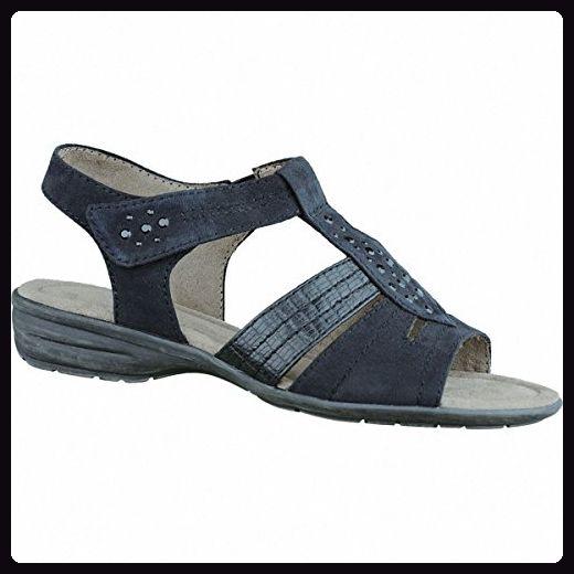 Soft Line modische Damen Sandalen black, Synthetik Textil kombiniert, weiche Decksohle, Extra Weite H, 1536103/39 - Sandalen für frauen (*Partner-Link)