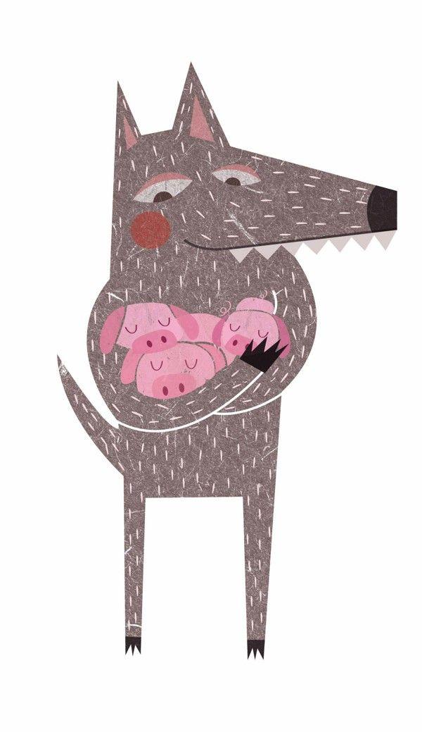 El lobo y los cerditos by Marta Angel