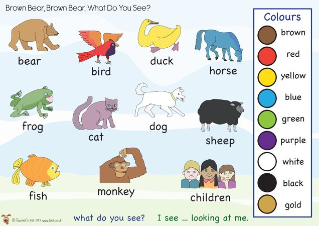 Brown Bear Brown Bear What Do You See Word Mat Book