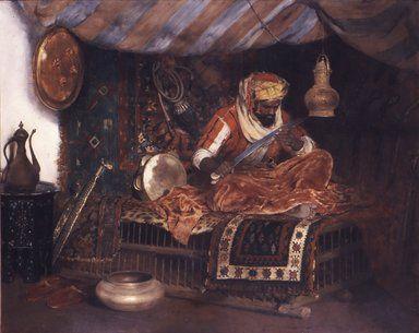 William Merritt Chase (American, 1849-1916). The Moorish Warrior, ca. 1878. Oil on canvas, 59 3/16 x 94 7/16 in. (150.4 x 239.9 cm). Brooklyn Museum, Gift of John R.H. Blum and Healy Purchase Fund B, 69.43 (Photo: Brooklyn Museum, CUR.69.43.jpg)