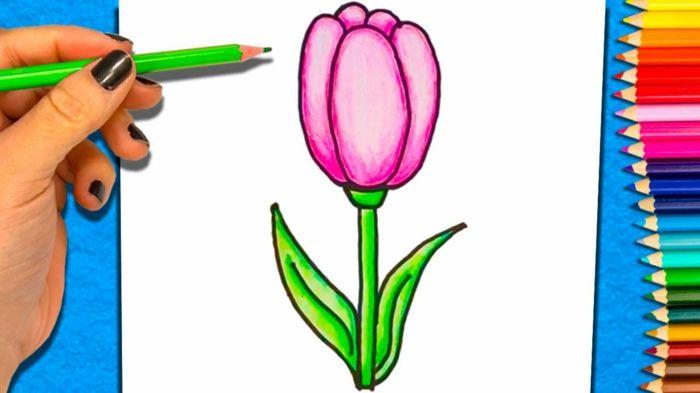 1001 Ideas De Dibujos De Flores Faciles Y Bonitos En 2020