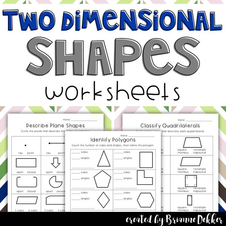 Les 25 meilleures id es de la cat gorie Two dimensional shapes sur – 2 Dimensional Shapes Worksheets