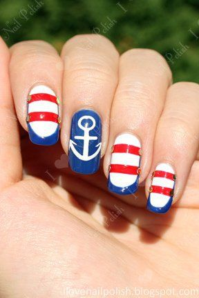 Best 25 sailor nails ideas on pinterest nautical nails best 25 sailor nails ideas on pinterest nautical nails nautical nail designs and anchor nails prinsesfo Image collections