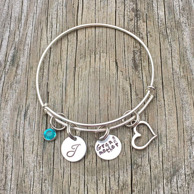 20%OFF Summer Sale- Grandmother bracelet - Grandma bracelet - Birthstone bracelet - Charm bracelet - Grandmother jewelry - Birthstone jewelr