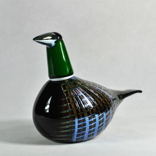 FESTIVE PHEASANT Glass Bird Iittala Oiva Toikka Scandinavian Finland