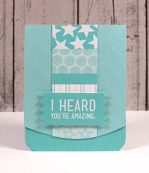 I Heard You're Amazing...Crafts W Paper, Paper Pack, Heard You R, Monochromatic Cards, Amazing People, Stamps Blog, Paper Crafts, Kristina Monochromatic, You R Amazing