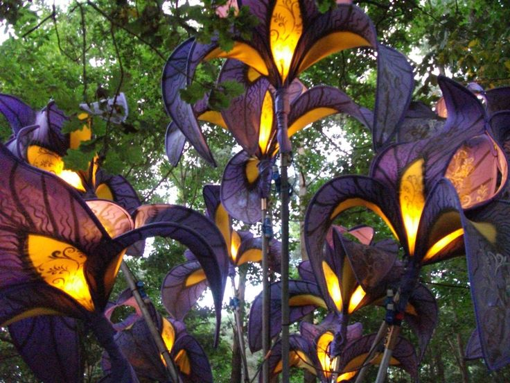 Awesome paper flowers In the Woods at Latitude festival