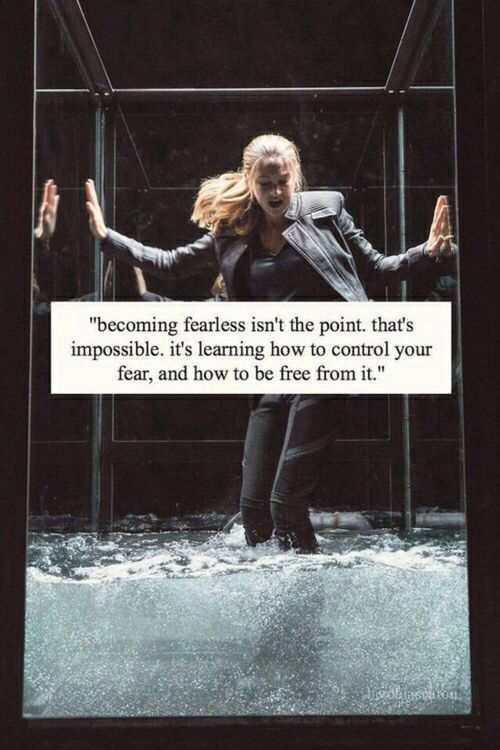 """Becoming fearless isn't the point.""                              …"
