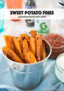 Sweet Potato Fries are a tasty alternative to regular potato fries, packed full of Vitamin A (in the form of beta carotene), Vitamin C, calcium and potassium, these fries are also a healthier choice. To help bring out the flavour, I've tossed the sweet potato fries in garlic salt and freshly ground black pepper, making them incredibly moreish.