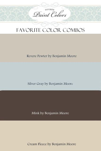 Favorite Paint Colors: color combinations