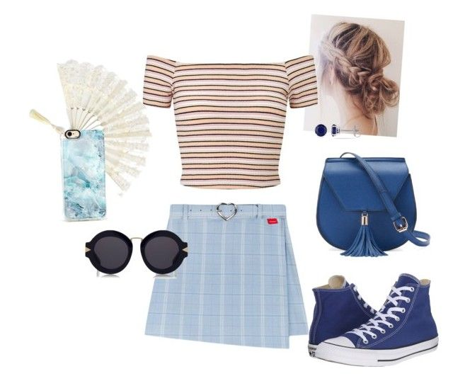 """It's like an oven outside..."" by lovableln on Polyvore featuring Miss Selfridge, Yoki, Converse, Casetify, Karen Walker and Allurez"