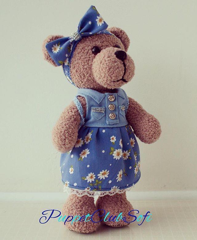 Немного позднее это оказалось поздно вечером🙈 вот такая девочка🐻появилась она в подарок для маленькой нашей любимой Ульяночки👼🏼#puppetclubsofi#teddy#amigurumi#doll#dolls#weamiguru#toys_gallery#knitting#crochet