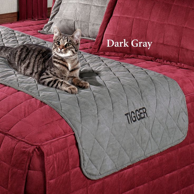 Mason Quilted Faux Suede Bed Protector for Pets