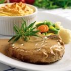 Bisteca de porco com mostarda e mel