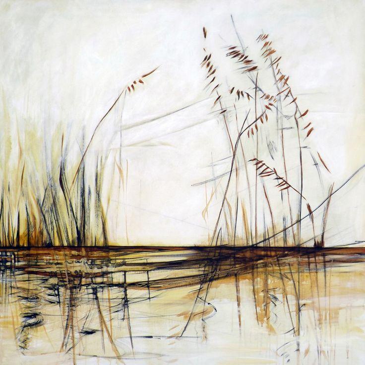 """""""Spighe IV"""" Acrylic on canvas - 100x100 cm"""