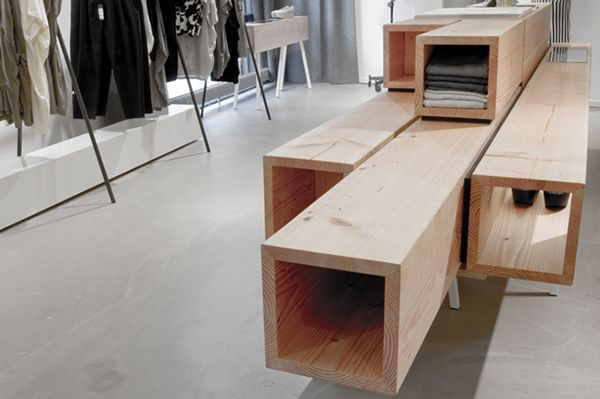 A flexible interior concept with high quality for the Danish Clothing brand Won Hundred.