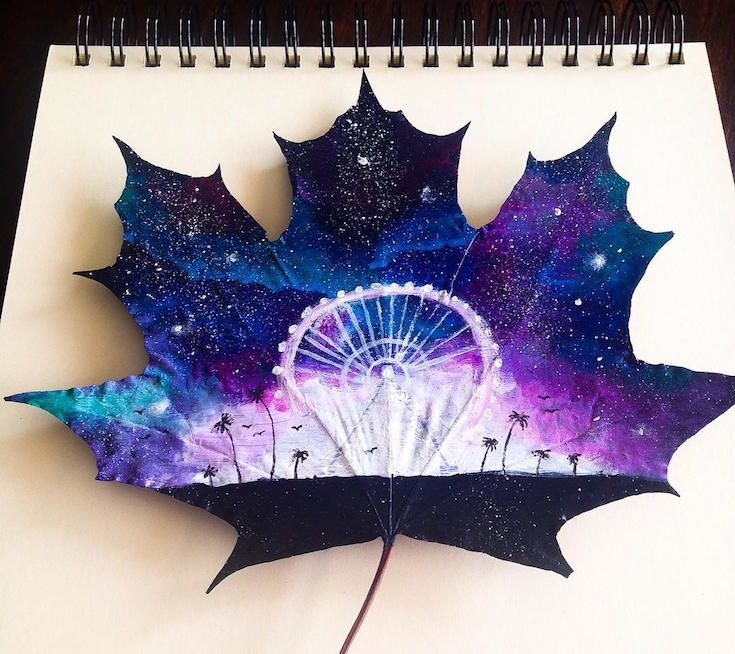 A 17-year-old turned these fallen leaves into incredible works of art.<<<<That's so cool