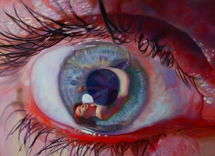 """Eye"" - Oil painting by Anna Wypych (Poland)"