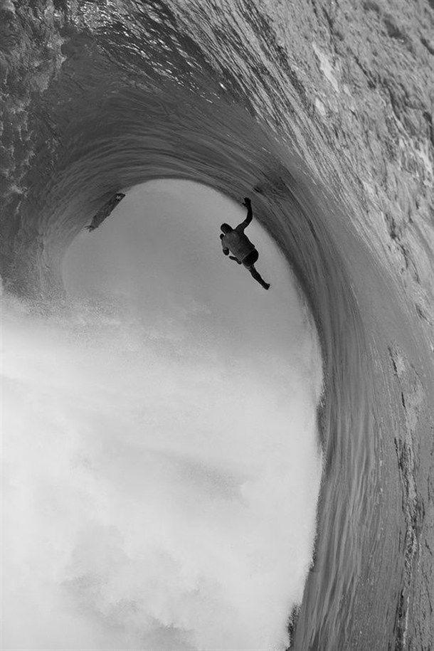 Mur deau   vague verticale   big wave Photo