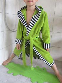 Bademantel für Kinder nähen, Bademantel Fritzi Freebook