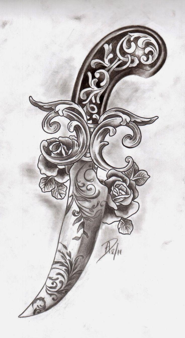 Resultado de imagem para tattoo adaga
