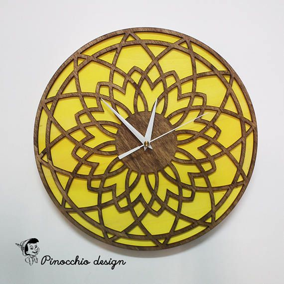 Wooden Wall Clock,Home Dיcor,Living Room Dיcor,Decorative Clock,Modern Clock,Gift for Him/Her,Office Clock,Design clock, Home Decor Clock.