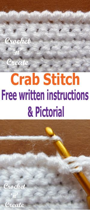 Learn how to crochet the crochet crab stitch with this pictorial - #crochetncreate #crochetstitches #crochetcrabstitch