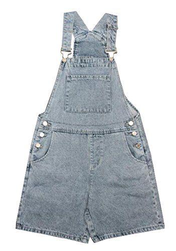 370304df848 Fensajomon Womens Summer Girls Bib Loose Denim Shortalls Romper Jumpsuits  Overalls